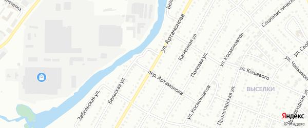 Улица Артамонова на карте Белорецка с номерами домов