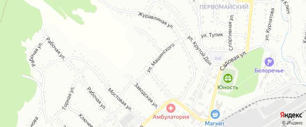 Улица Машинского на карте Белорецка с номерами домов