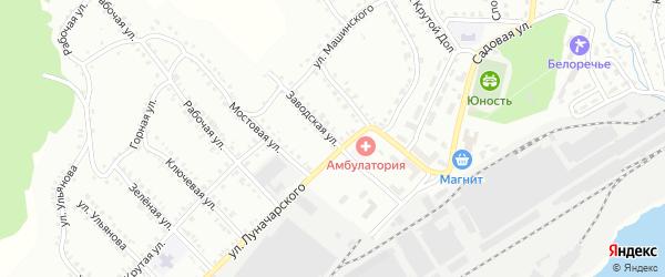 Заводская улица на карте Белорецка с номерами домов