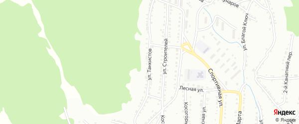 Улица Танкистов на карте Белорецка с номерами домов