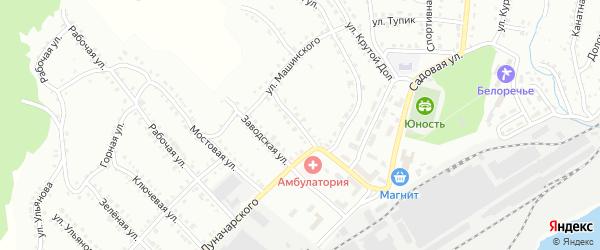 Цеховая улица на карте Белорецка с номерами домов