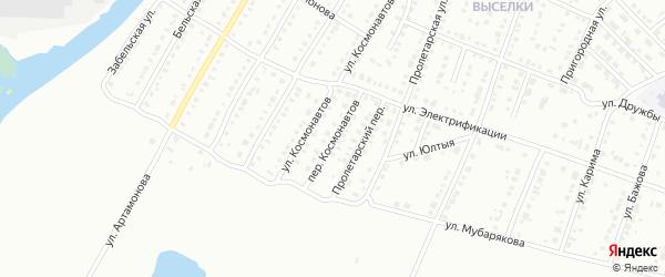 Переулок Космонавтов на карте Белорецка с номерами домов