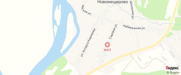 Улица Кутдуса Каримова на карте деревни Новомещерово с номерами домов