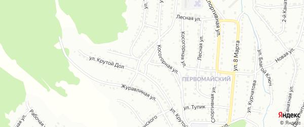Косогорная улица на карте Белорецка с номерами домов