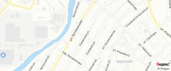 Каменная улица на карте Белорецка с номерами домов