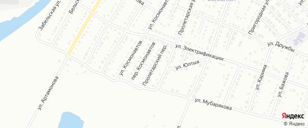 Пролетарский переулок на карте Белорецка с номерами домов