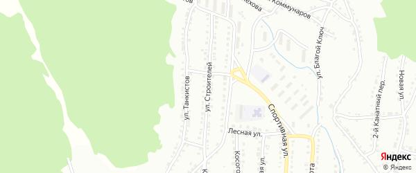 Улица Строителей на карте Белорецка с номерами домов