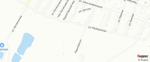 Пролетарская улица на карте Белорецка с номерами домов