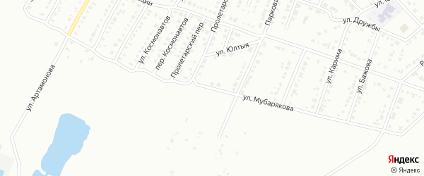Улица Мубарякова на карте Белорецка с номерами домов