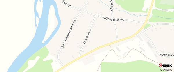 Садовая улица на карте деревни Новомещерово с номерами домов