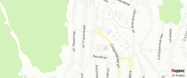Улица Трудовых Резервов на карте Белорецка с номерами домов