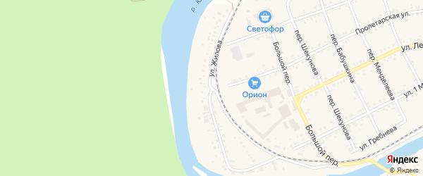Улица Жилова на карте Юрюзани с номерами домов