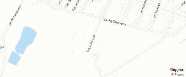 Парковая улица на карте Белорецка с номерами домов