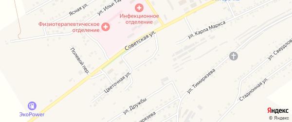 Цветочная улица на карте Юрюзани с номерами домов