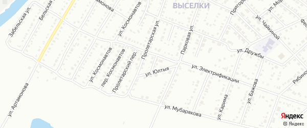 Переулок Электрификации на карте Белорецка с номерами домов