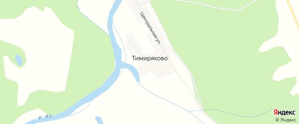 Карта деревни Тимиряково в Башкортостане с улицами и номерами домов