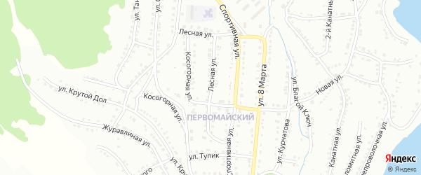 Лесная улица на карте Белорецка с номерами домов