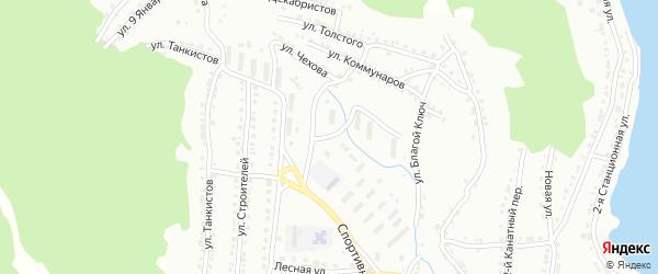 Улица Благой Ключ на карте Белорецка с номерами домов