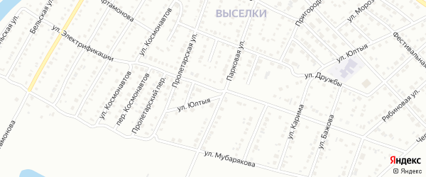 Улица Электрификации на карте Белорецка с номерами домов