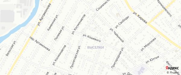 Улица Кошевого на карте Белорецка с номерами домов