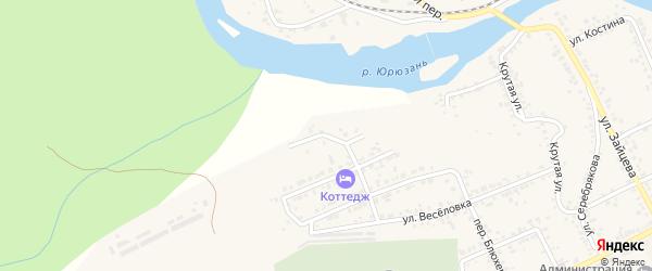 Каменная улица на карте Юрюзани с номерами домов