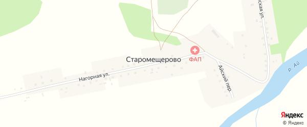 Коммунистическая улица на карте деревни Старомещерово с номерами домов