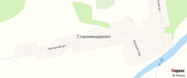 Айский переулок на карте деревни Старомещерово с номерами домов