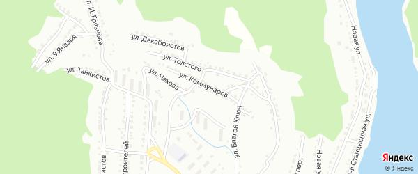 Улица Коммунаров на карте Белорецка с номерами домов