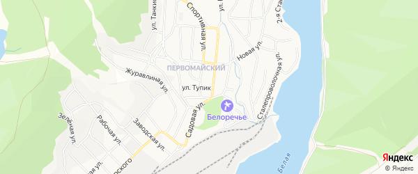 СНТ БМК 4-й на карте улицы Тупика с номерами домов