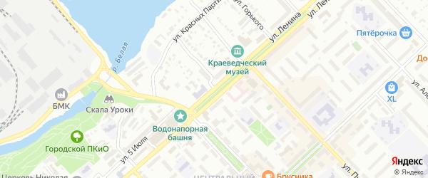 Советская улица на карте Белорецка с номерами домов