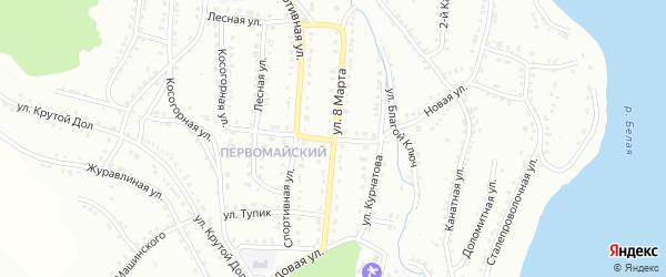 Улица 8 Марта на карте Белорецка с номерами домов