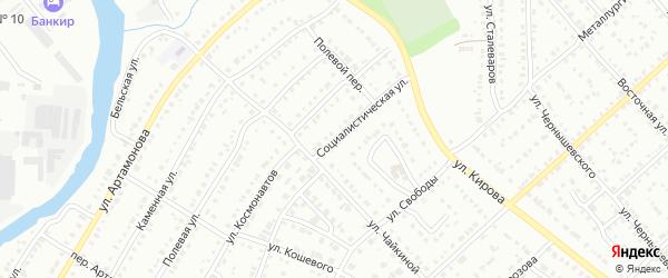 Социалистическая улица на карте Белорецка с номерами домов