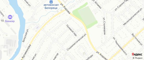 Полевой переулок на карте Белорецка с номерами домов