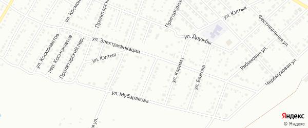 Пригородная улица на карте Белорецка с номерами домов
