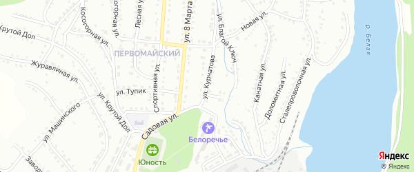 Улица Курчатова на карте Белорецка с номерами домов