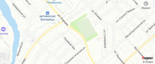 Тупик Кирова на карте Октябрьского с номерами домов