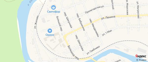 Переулок Шекунова на карте Юрюзани с номерами домов