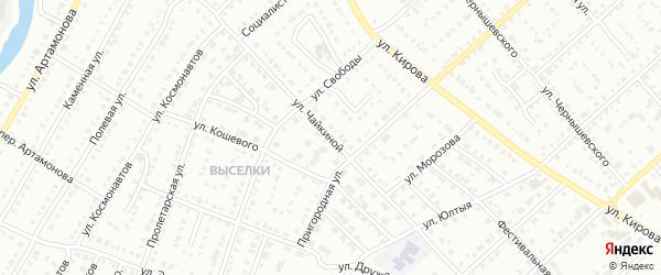 Улица Чайкиной на карте Белорецка с номерами домов