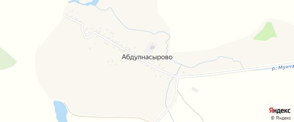Абулнасырская улица на карте деревни Абдулнасырово с номерами домов
