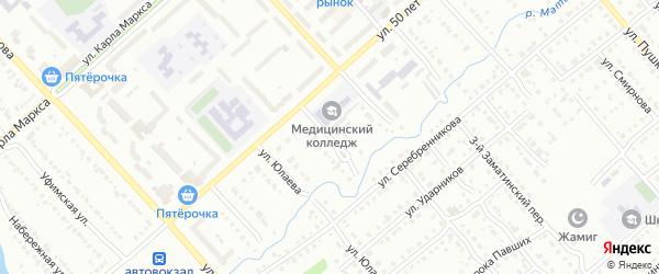 Улица Свердлова на карте Белорецка с номерами домов