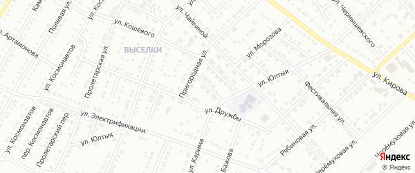 Переулок Кошевого на карте Белорецка с номерами домов