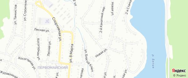 Канатная улица на карте Белорецка с номерами домов