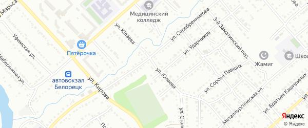 Улица Салавата Юлаева на карте Белорецка с номерами домов