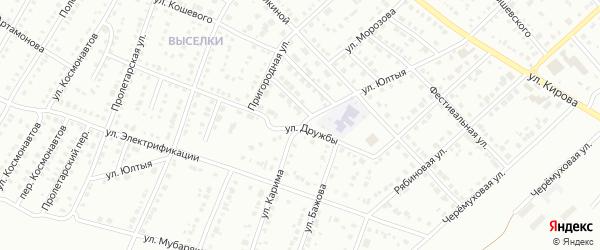 Улица Даута Юлтыя на карте Белорецка с номерами домов