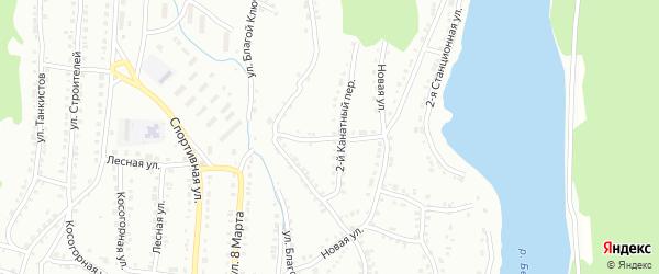 Канатный 1-й переулок на карте Белорецка с номерами домов