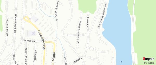 Канатный 2-й переулок на карте Белорецка с номерами домов