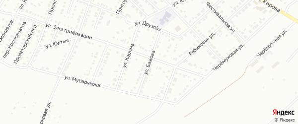 Улица Бажова на карте Белорецка с номерами домов