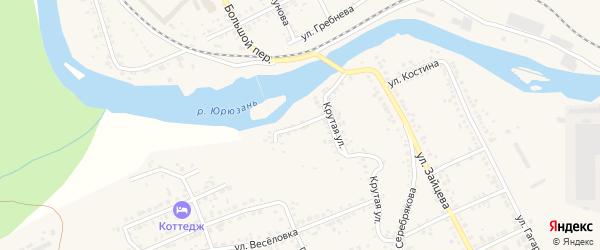 Западная улица на карте Юрюзани с номерами домов