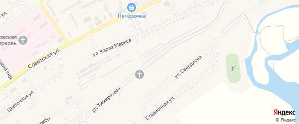 Улица Тимирязева на карте Юрюзани с номерами домов