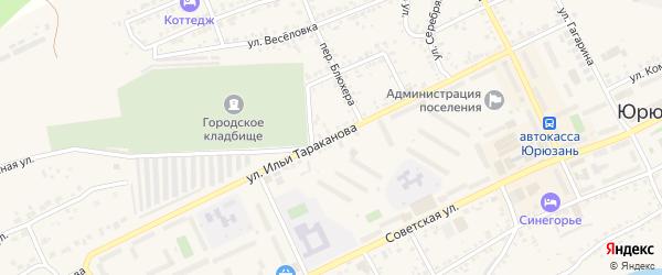Улица Ильи Тараканова на карте Юрюзани с номерами домов